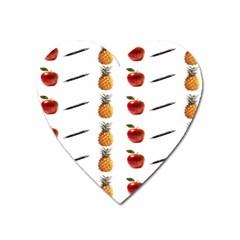 Ppap Pen Pineapple Apple Pen Heart Magnet by Nexatart