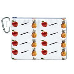 Ppap Pen Pineapple Apple Pen Canvas Cosmetic Bag (xl) by Nexatart
