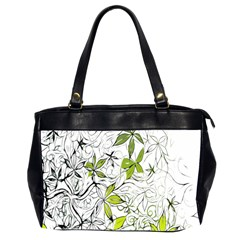 Floral Pattern Background Office Handbags (2 Sides)  by Nexatart
