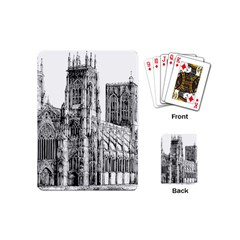 York Cathedral Vector Clipart Playing Cards (mini)  by Nexatart