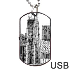 York Cathedral Vector Clipart Dog Tag USB Flash (Two Sides) by Nexatart