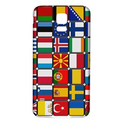 Europe Flag Star Button Blue Samsung Galaxy S5 Back Case (white) by Nexatart