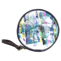 Background Color Circle Pattern Classic 20-CD Wallets