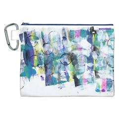 Background Color Circle Pattern Canvas Cosmetic Bag (xxl) by Nexatart