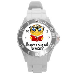 Geek Kid Round Plastic Sport Watch (l) by athenastemple