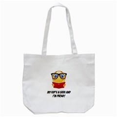 Geek Kid Tote Bag (white) by athenastemple