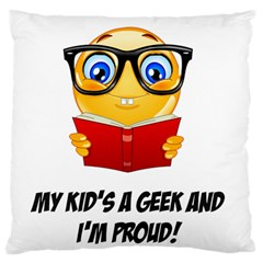 Geek Kid Standard Flano Cushion Case (Two Sides) by athenastemple