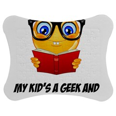 Geek Kid Jigsaw Puzzle Photo Stand (bow) by athenastemple