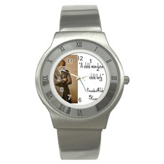 A Child Is Miseducated    Stainless Steel Watch by athenastemple