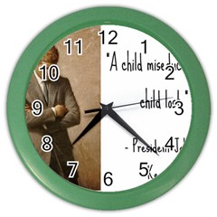 A Child Is Miseducated    Color Wall Clocks by athenastemple