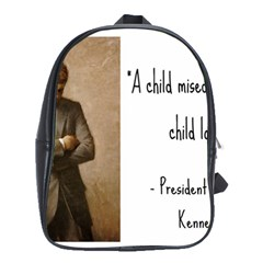 A Child Is Miseducated    School Bags(large)  by athenastemple