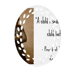 A Child Is Miseducated    Oval Filigree Ornament (two Sides) by athenastemple