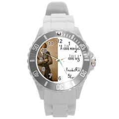 A Child Is Miseducated    Round Plastic Sport Watch (l) by athenastemple