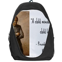 A Child Is Miseducated    Backpack Bag by athenastemple
