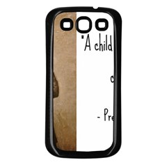 A Child Is Miseducated    Samsung Galaxy S3 Back Case (black) by athenastemple