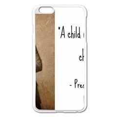 A Child Is Miseducated    Apple Iphone 6 Plus/6s Plus Enamel White Case by athenastemple