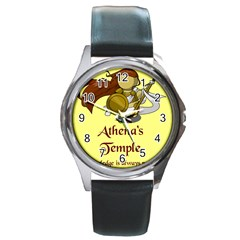 Athena s Temple Round Metal Watch by athenastemple