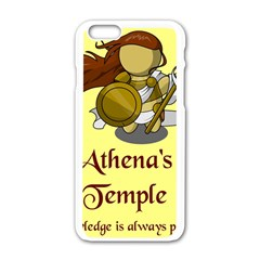 Athena s Temple Apple Iphone 6/6s White Enamel Case by athenastemple
