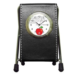 Fruit Of Education Pen Holder Desk Clocks by athenastemple
