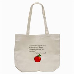 Fruit Of Education Tote Bag (cream) by athenastemple