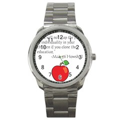 Fruit Of Education Sport Metal Watch by athenastemple