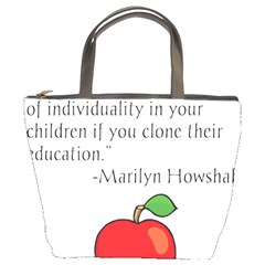 Fruit Of Education Bucket Bags by athenastemple