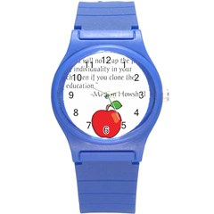 Fruit Of Education Round Plastic Sport Watch (s) by athenastemple