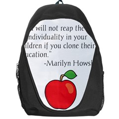 Fruit Of Education Backpack Bag by athenastemple
