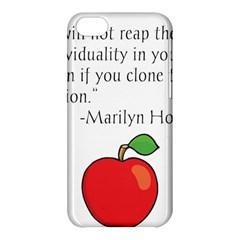 Fruit Of Education Apple Iphone 5c Hardshell Case by athenastemple