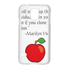 Fruit Of Education Samsung Galaxy S5 Case (white) by athenastemple