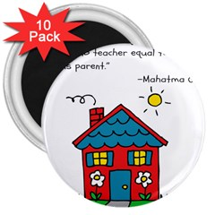 No School Greater    3  Magnets (10 Pack)  by athenastemple
