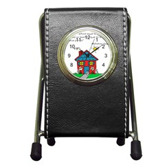 No School Greater    Pen Holder Desk Clocks by athenastemple
