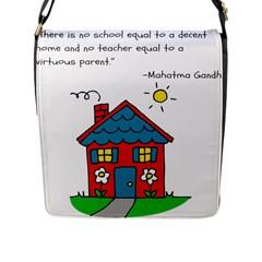 No School Greater    Flap Messenger Bag (l)  by athenastemple