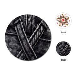 Backdrop Belt Black Casual Closeup Playing Cards (round)  by Nexatart