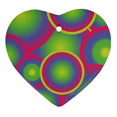 Background Colourful Circles Ornament (heart) by Nexatart