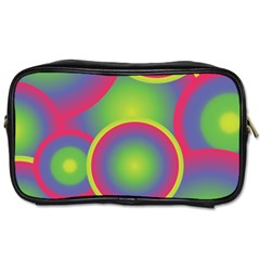 Background Colourful Circles Toiletries Bags 2 Side by Nexatart