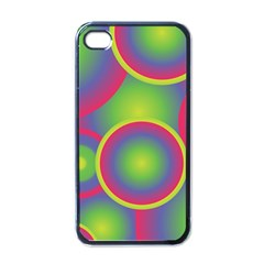Background Colourful Circles Apple Iphone 4 Case (black) by Nexatart