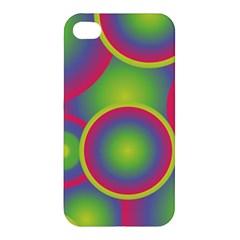 Background Colourful Circles Apple Iphone 4/4s Hardshell Case by Nexatart