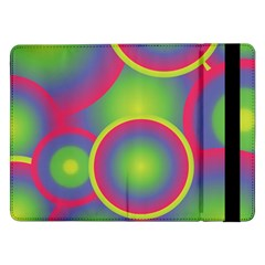 Background Colourful Circles Samsung Galaxy Tab Pro 12 2  Flip Case by Nexatart