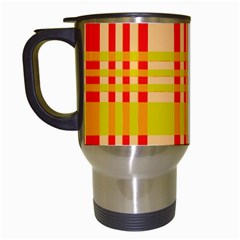 Check Pattern Travel Mugs (white) by Nexatart