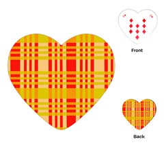 Check Pattern Playing Cards (heart)  by Nexatart