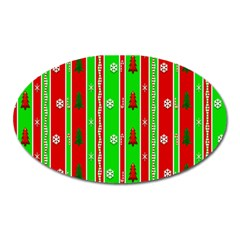 Christmas Paper Pattern Oval Magnet by Nexatart