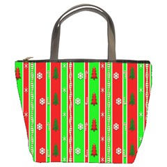 Christmas Paper Pattern Bucket Bags by Nexatart