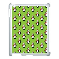 Christmas Penguin Penguins Cute Apple Ipad 3/4 Case (white) by Nexatart