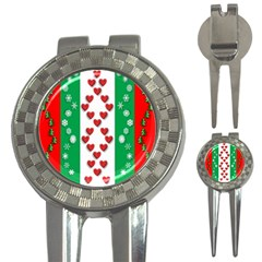 Christmas Snowflakes Christmas Trees 3 In 1 Golf Divots by Nexatart