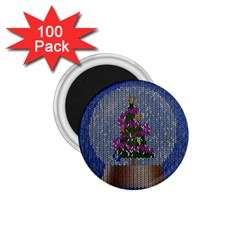 Christmas Snow 1 75  Magnets (100 Pack)  by Nexatart
