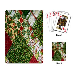 Christmas Quilt Background Playing Card by Nexatart