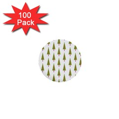 Christmas Tree 1  Mini Buttons (100 Pack)  by Nexatart