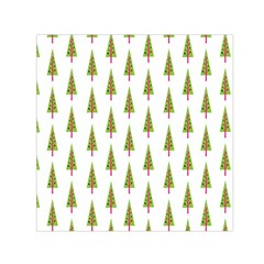 Christmas Tree Small Satin Scarf (square) by Nexatart