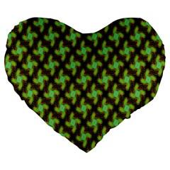 Computer Graphics Graphics Ornament Large 19  Premium Heart Shape Cushions by Nexatart